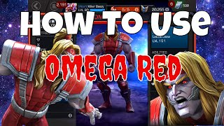 How to use Omega Red  l  Marvel Contest Of Champions