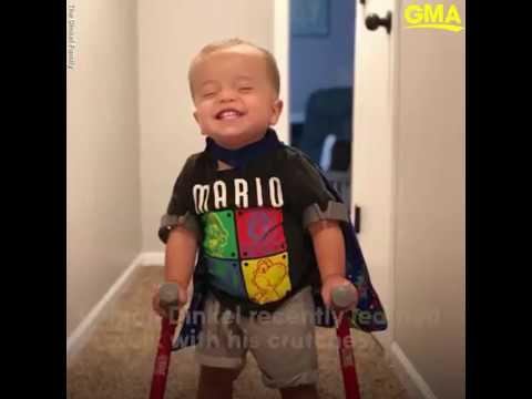 Seaman Sam's Daily Dose of Cute - Toddler with Spina bifida shows his dog he can walk