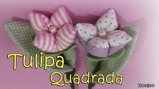 Fazendo tulipas quadradas 2 por Artesanato Bacalate