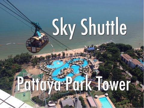 Riding The Sky Shuttle At Pattaya Park Tower, Pattaya, Thailand.
