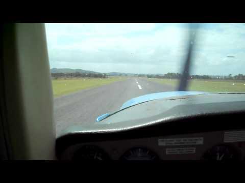 Cessna 152 landing at Royal Newcastle Aero Club NSW