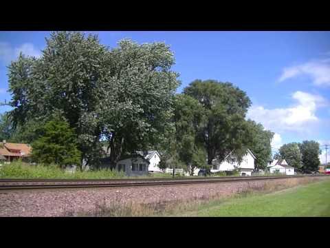Last Vestiges of Summer - Rochelle Railfanning August 2014