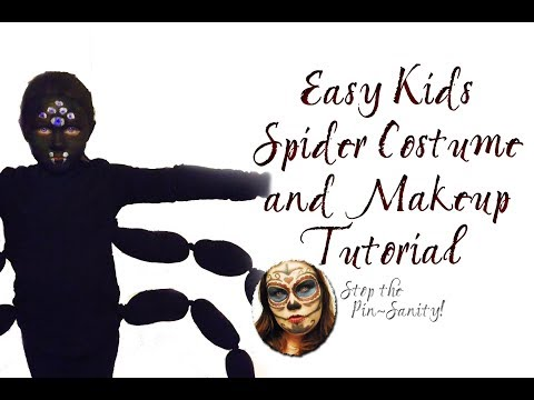 Easy DIY Kids Spider Costume - Stop the Pin-Sanity