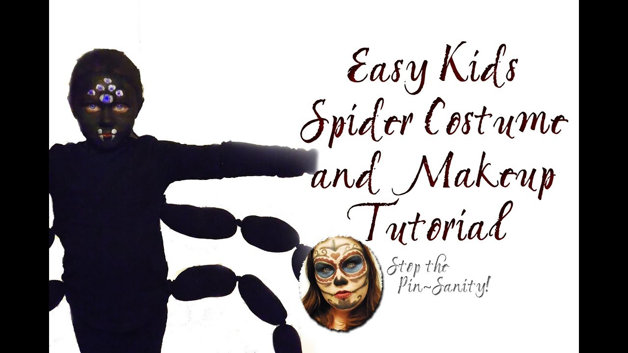 easy diy kids spider costume stop the pinsanity