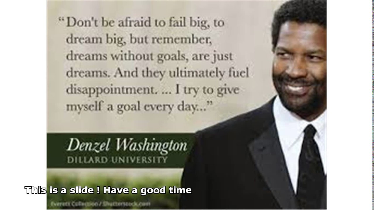 denzel washington graduation speech dillard