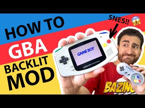 HOW TO Game Boy Advance AGS-101 Backlit Mod! - SNES Themed GBA Tutorial! 😱