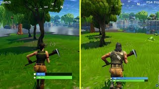 Fortnite Battle Royale Nintendo Switch vs PS4 Pro Graphics Comparison