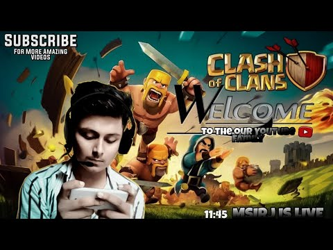 Clash Of Clans  With Entertainment! Msirj Gaming Live  For Fun Lets Fun Together