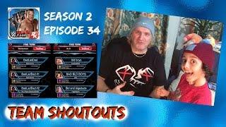 WWE SuperCard Season 2 #34 - Ninja Boy KOTR and BadLadDad Team shoutouts