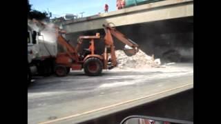 Dump Truck Dumps on 101