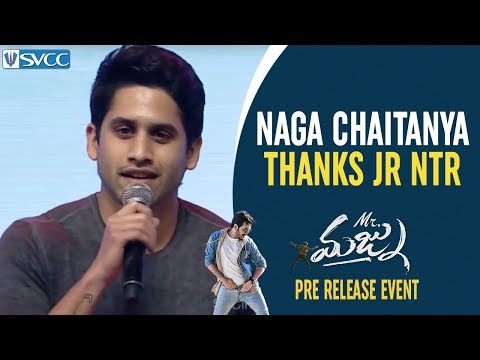 Naga Chaitanya Full Speech | Naga Chaitanya Thanks Jr NTR | Mr Majnu Pre Release Event | Akhil