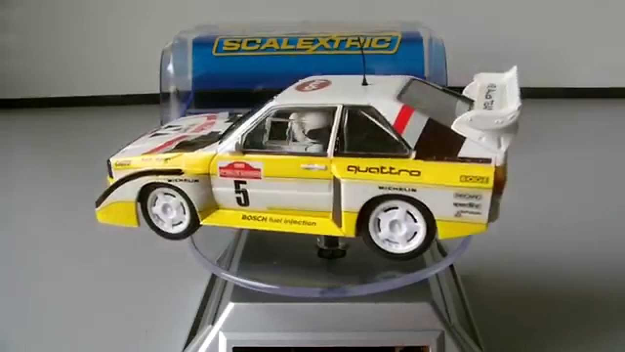 scalextric review audi quattro sport s1 youtube. Black Bedroom Furniture Sets. Home Design Ideas