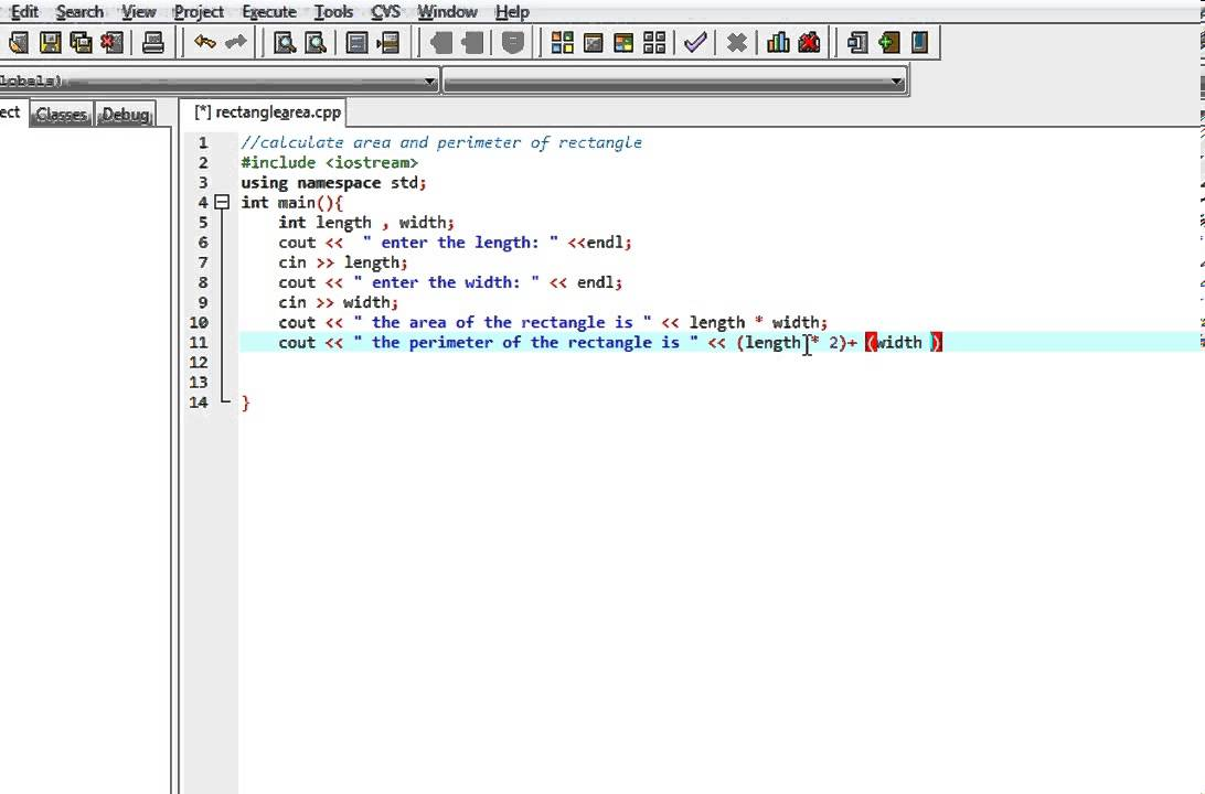 Java Program To Find Rectangle Area & Perimeter Using Classes