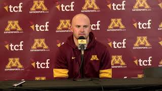 Press Conference: Tanner Morgan on Loss to Wisconsin