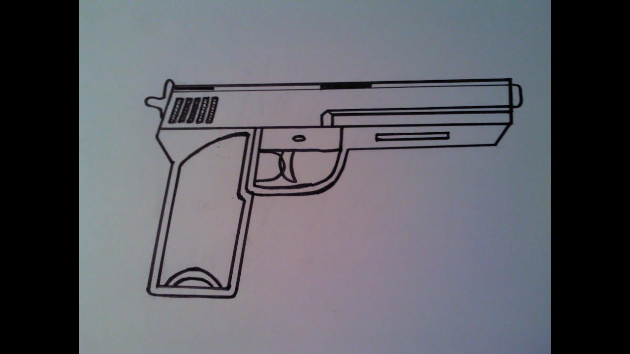 Silah Cizimi How To Draw A Gun Youtube