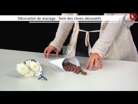 D co mariage faire des c nes confettis youtube - Faire sa deco de mariage ...