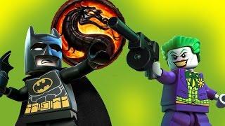 Лего Комбат. Пародия на Мортал Комбат. Бэтмен и Робин, Ниндзяго, Нексо Найтс, мультик на русском
