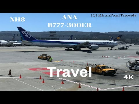 All Nippon Airways NH8 Flight Experience | Tokyo/NRT to San Francisco | B777-300ER | 4K