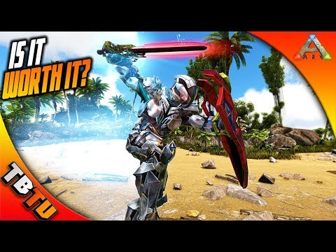 ARK TEK SWORD, TEK SHIELD, AND TEK LIGHT! IS IT EVEN GOOD? TEK SWORD TESTING! Ark Survival Evolved