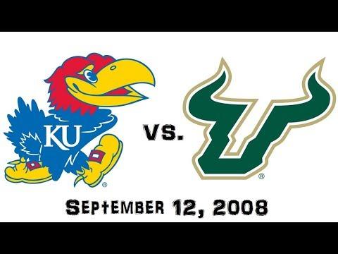 September 12, 2008 - #13 Kansas Jayhawks vs. #19 South Florida Bulls Full Football Game