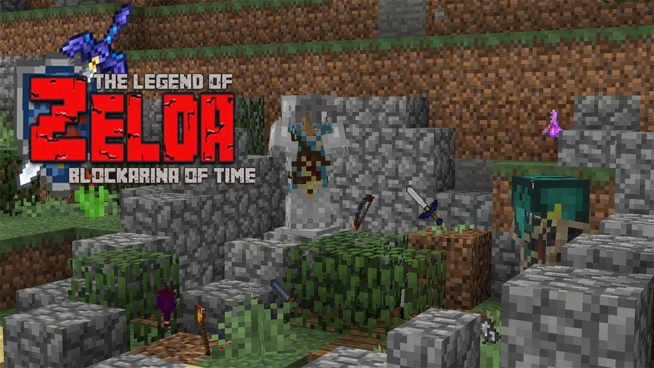 Legend of Zelda Ocarina of Time - Items, weapons and armor (Minecraft  Adventure Map)
