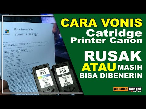 Cara isi tinta printer canon IP 2770/mp258/mp287.