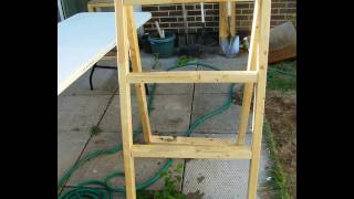 Homemade Wood Ladder For Cardboard Swimming Pool