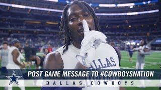 Post Game Message to #CowboysNation Following Win Over Saints | Dallas Cowboys 2018