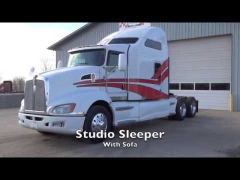 2008 Kenworth T660 Studio Sleeper W Sofa Youtube