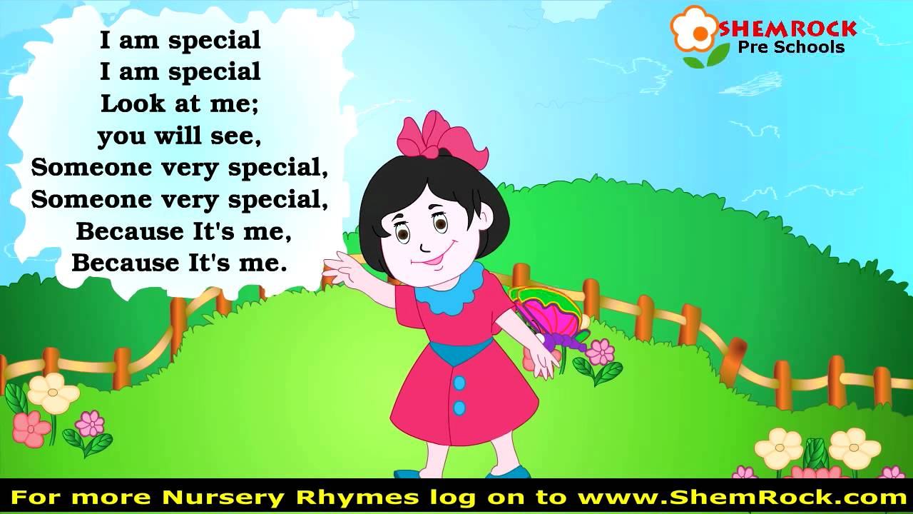 Nursery Rhymes I Am Special Songs With Lyrics Youtube