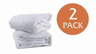 Sealy Waterproof Crib Mattress Pad 2-Pack: Help Keep Baby Dry at Night
