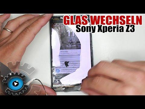 Sony Xperia Z3 Glas Digitizer Polarizer Wechseln Tauschen Reparieren [Deutsch]