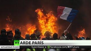 Periodista de RT herido en las protestas de París