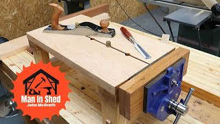 Mini workbench part 2, making a hand tool workbench with a vice.