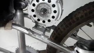 Bike eletrica caseira com motor mais potente de ventoinha .