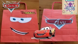 DIY: How to make paper gift bag with Lightning McQueen TUTORIAL