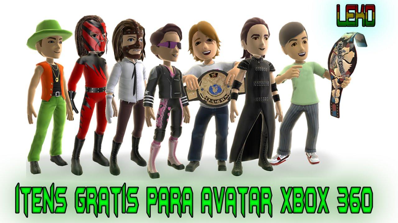 itens de avatar para xbox 360 gratis