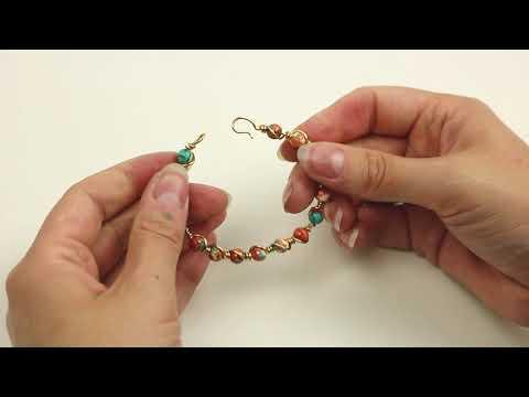 Crear joyas: cómo crear una pulsera con piedra natural y Artistic Wire