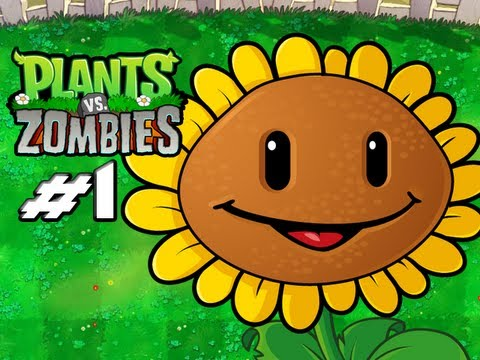 Plants Vs. Zombies - Gameplay Walkthrough Part 1 - Introduction (World 1) (HD Let