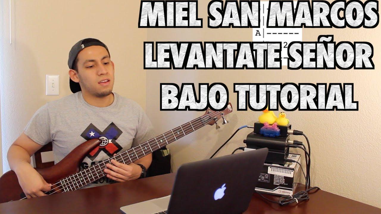 Miel San Marcos Levantate Señor Bajo Tutorial With Tabs (HD)