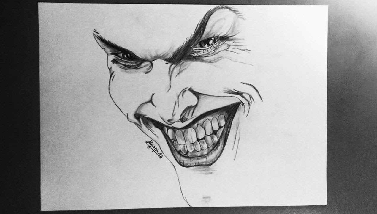 Joker speed drawing pencils
