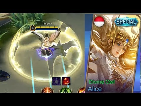 Alice Special Skin Divine Owl Gameplay (Dark To Light Side