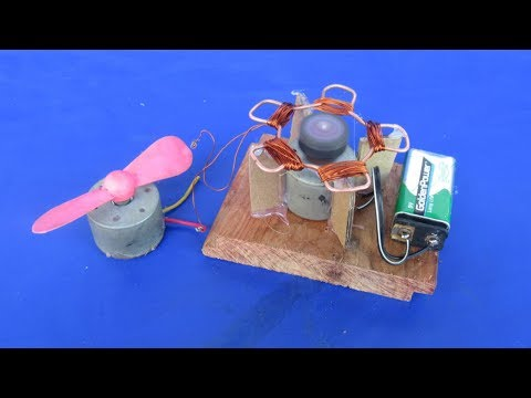 How to make Free energy generator fan with Wire self running & motor - Projects 2018 at home