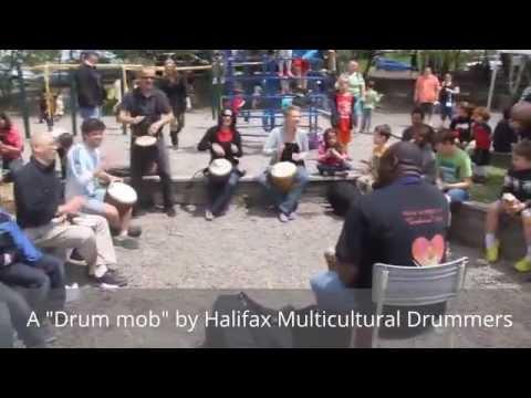 Halifax Multicultural Drummers - Flash drumming mob!
