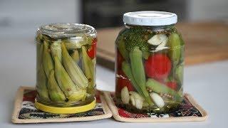 Կուտատուկի Բամիայի Մարինադ Թթու - Pickled Okra Recipe - Heghineh Cooking Show in Armenian