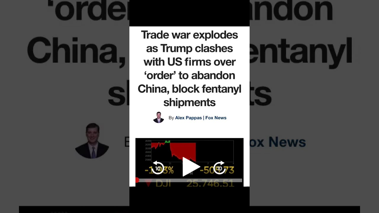 Trump orders US companies to block all fentanyl shipments from China