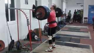 180kg paused front squat