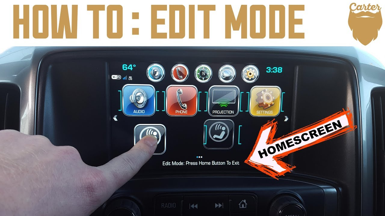 How To Personalize The Chevy Mylink Home Screen In Edit Mode Youtube