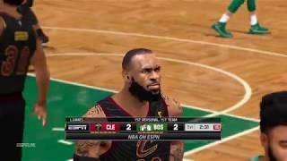 NBA 2K14 - Cavaliers vs Celtics 2018 Roster - 1st Half