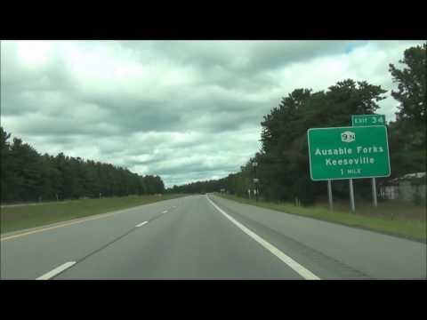 New York - Interstate 87 North (Adirondack Northway) - Mile Marker 120 to 140